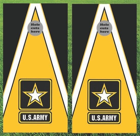 Army Military Cornhole Wrap Decals Bag Toss 3M Vinyl 24x48  Fast Shipping