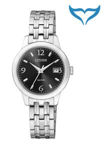 Citizen-Elegant-Damen-Armbanduhr-EW2230-56E-Eco-Drive-Saphir-Edelstahl-5-bar-NEU