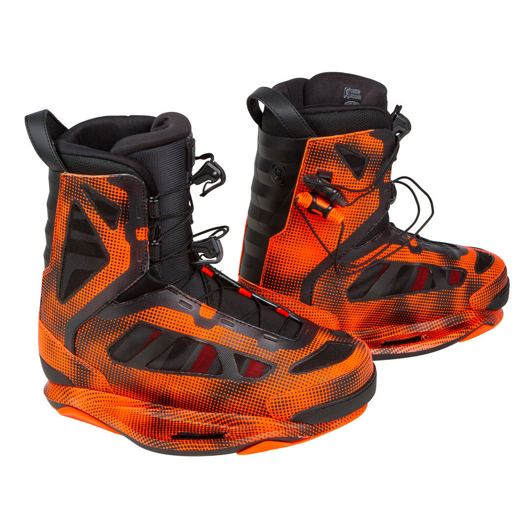 SAVE 50% - NEW Ronix Parks Closed Toe Wakeboard Bindings - (US 11)