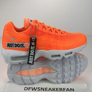 fb6a825e81 Nike Air Max 95 Just Do It Men's Size 8.5 Total Orange Running Shoes ...