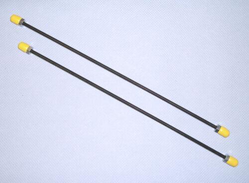2 Pièce Universel Conduite De Noir 4,75 mm 2x F-évasée 350 mm longueur 35 cm