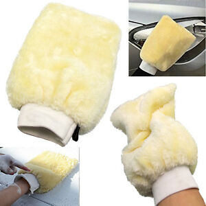 UK-Microfibre-Car-Care-Wash-Glove-Faux-Wool-Hand-Wash-Mitt-Cleaner-Soft