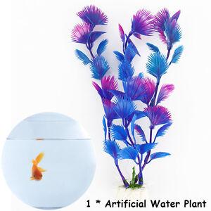 Artificial Plastic Water Plants For Fish Tank Aquarium Decoration Decor Ornament Ebay