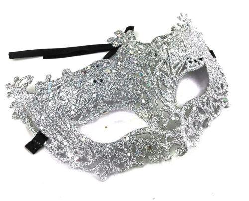 Fancy Dress Maschere Argento Glitter Masquerade Maschera Addio Al Celibato Nubilato Party Prom