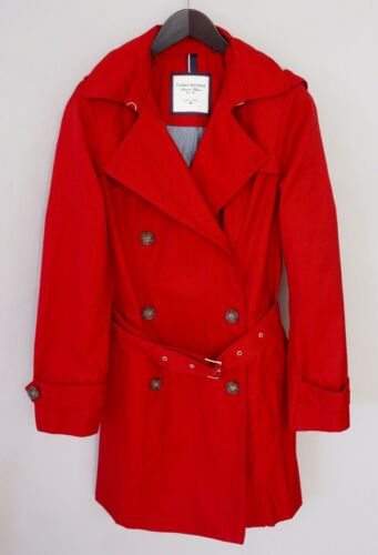 Women Tommy Hilfiger Trench Coat Red Casual Busine