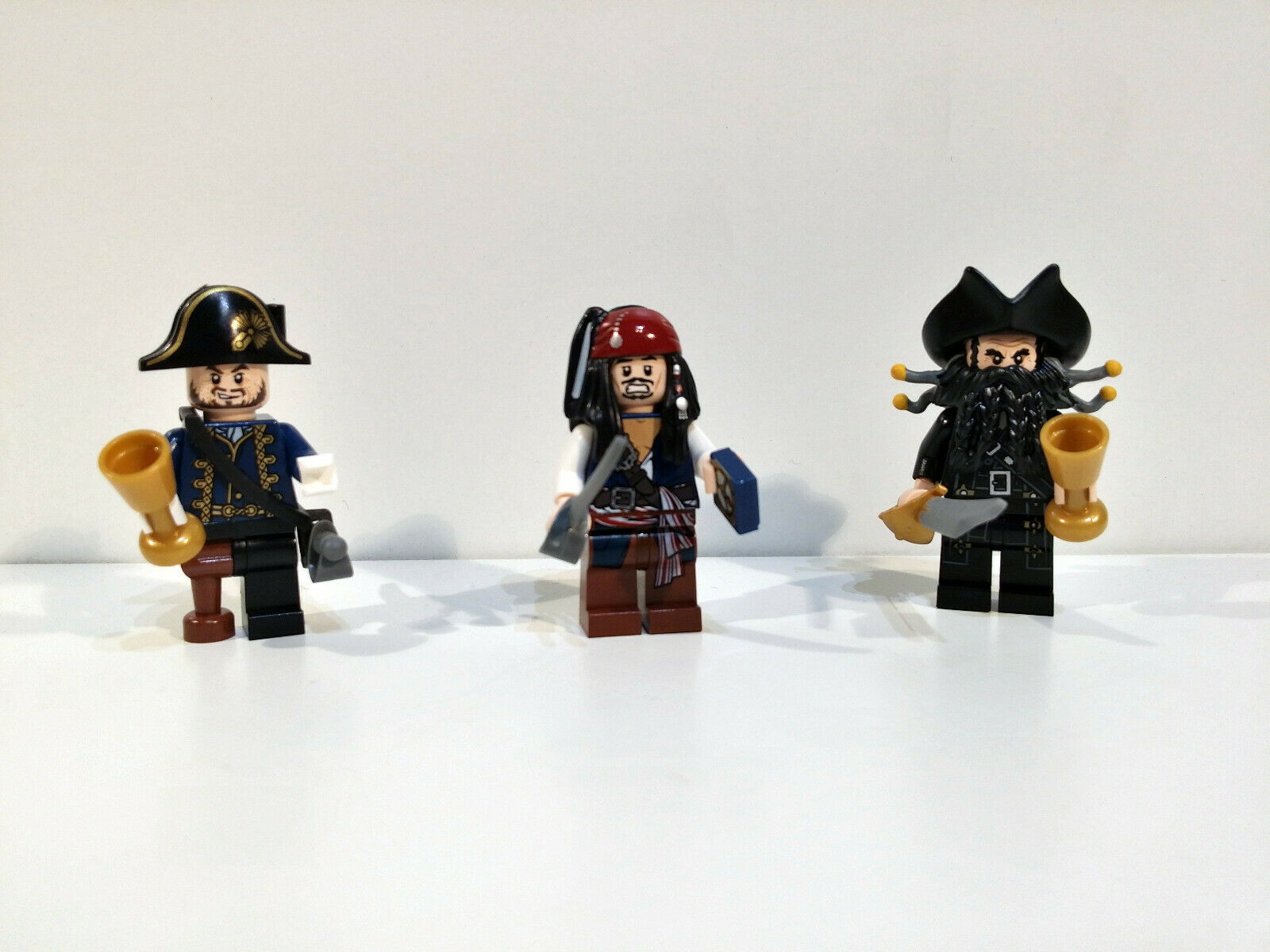 Lego Minifiguren Piraten der Karibik 4195 Bart Schwarz - Barbosa - Jack Sparrow