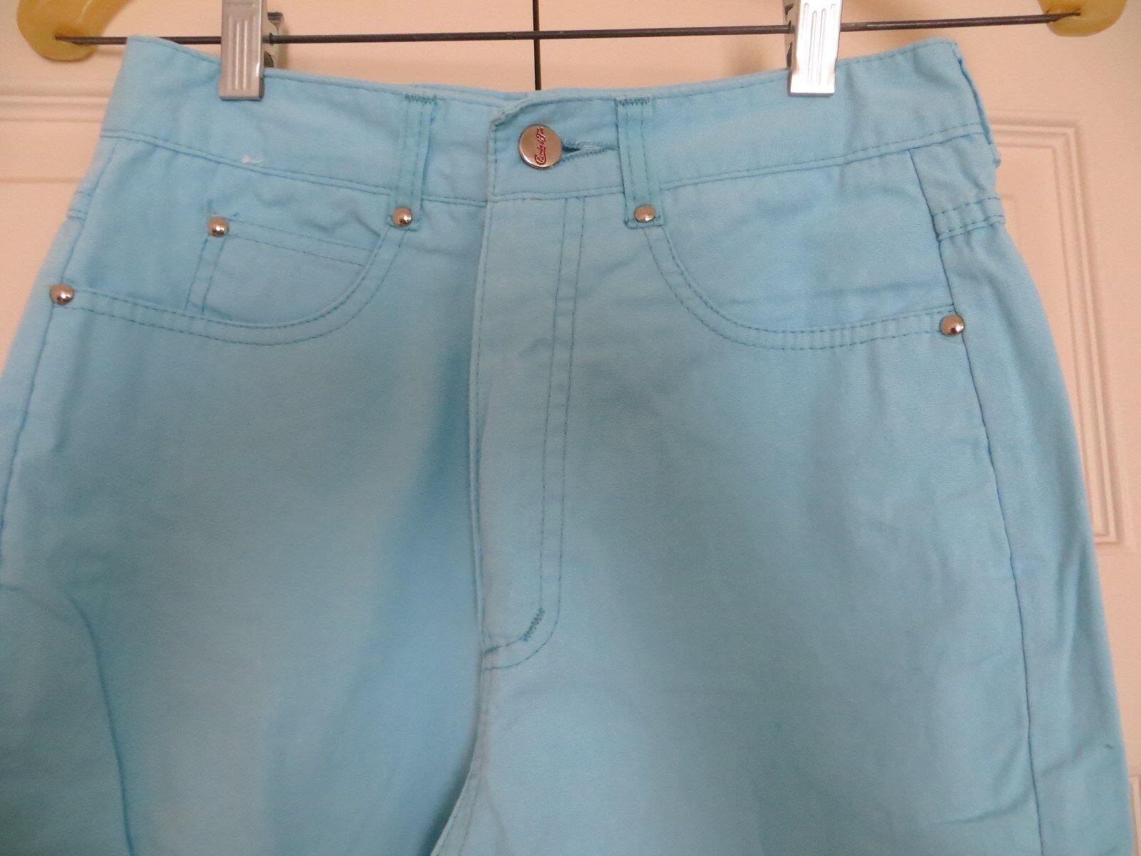 womans skinny jeans pants blue cotton 31/28 Chemi… - image 2