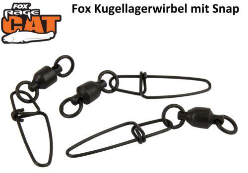 Kugellagerwirbel Fox Rage Cat Ball Bearing Snap Link Swivels Wallerwirbel
