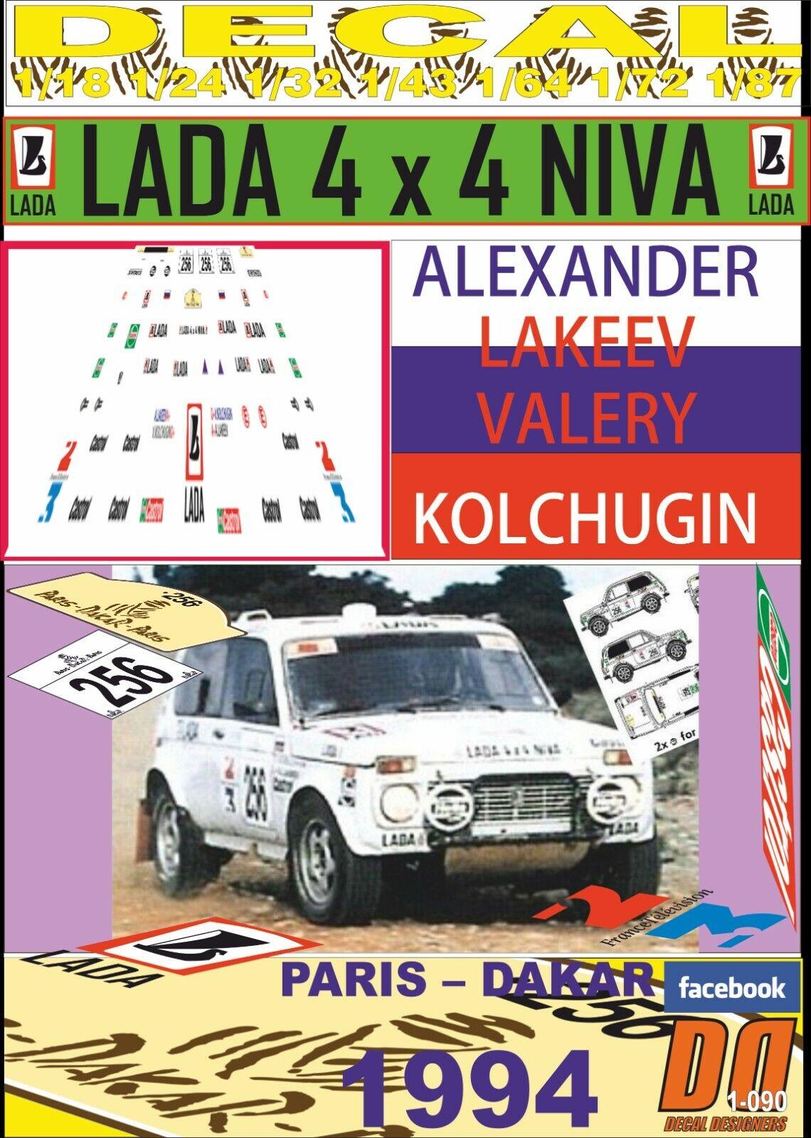 DECAL LADA NIVA {65533;C VAZ 2121 ALEXANDR LAKKEV PARIS DAKAR 1994 (03)