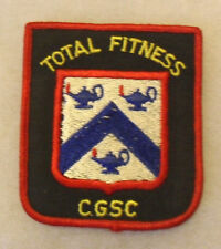 "80'S ""TOTAL FITNESS CGSC"" (CMD GENERAL STAFF COURSE) POCKET PATCH EMB ME"