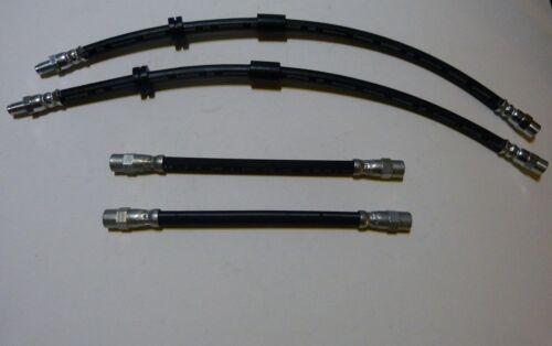 4 x Bremsschlauch//Bremsschläuche vorne u hinten für BMW 5er E28 mit Trommelbr..