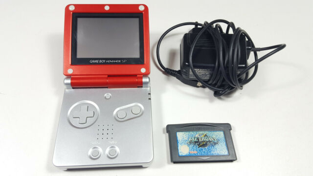 Nintendo Game Boy Advance SP Limited Edition Mario Red Rot + Metroid Fusion