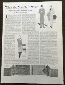 1929-Magazine-Article-What-the-Man-Will-Wear-William-Archer-GREAT-Illustrations