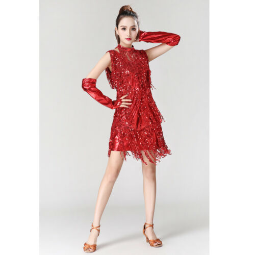 Women Lady 20s Party Charleston Flapper Dress Fringe Cocktail Latin Outfits