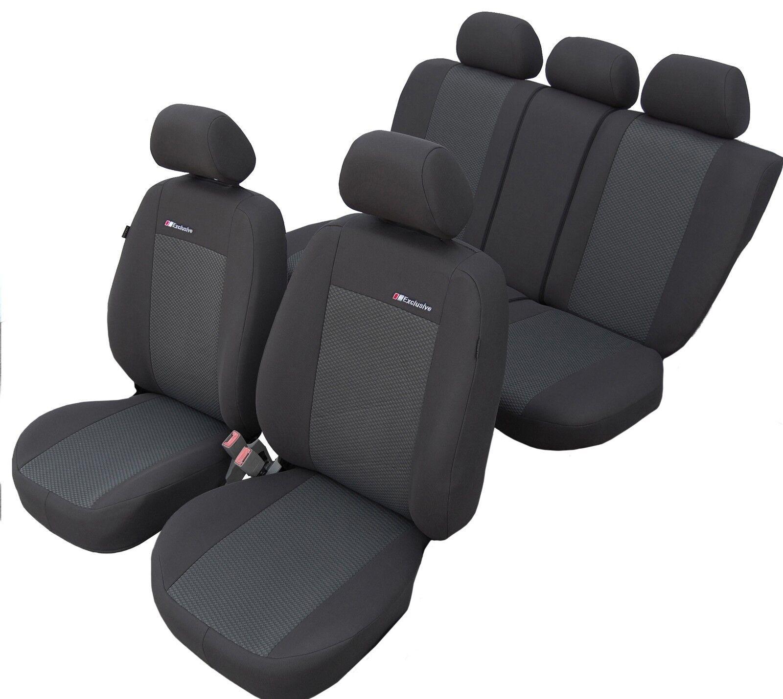 Autositzbezüge Hyundai i10 Universal Grau Sitzbezüge Schonbezüge Sitzbezug Set