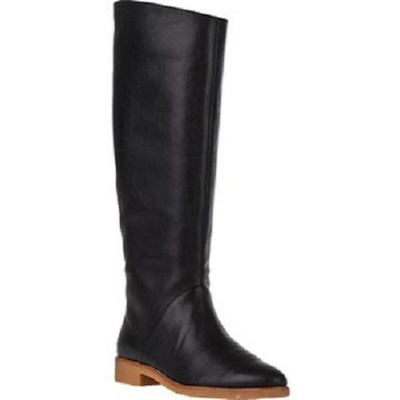 7 für Alle DAMEN Schwarzes Leder Darby Winter Stiefel Schuhe 5.5