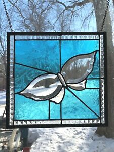 Beveled Glass Stained Glass Butterfly