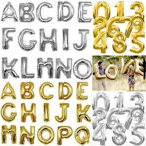 16-034-40-034-Gold-Silver-Foil-Letter-Number-Balloons-Birthday-Wedding-Party-Decoration