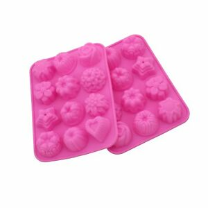 Jello Soap Candies 2Pack Bath Bomb,Ice Cube Trays Baking Molds Trays Cooking Supplies for Chocolate Easter Egg Shaped Silicone Cake Mold