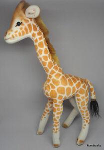 Steiff Bendy Giraffe Trevira Velvet & Mohair Plush 40cm 16in 1970s Vintage