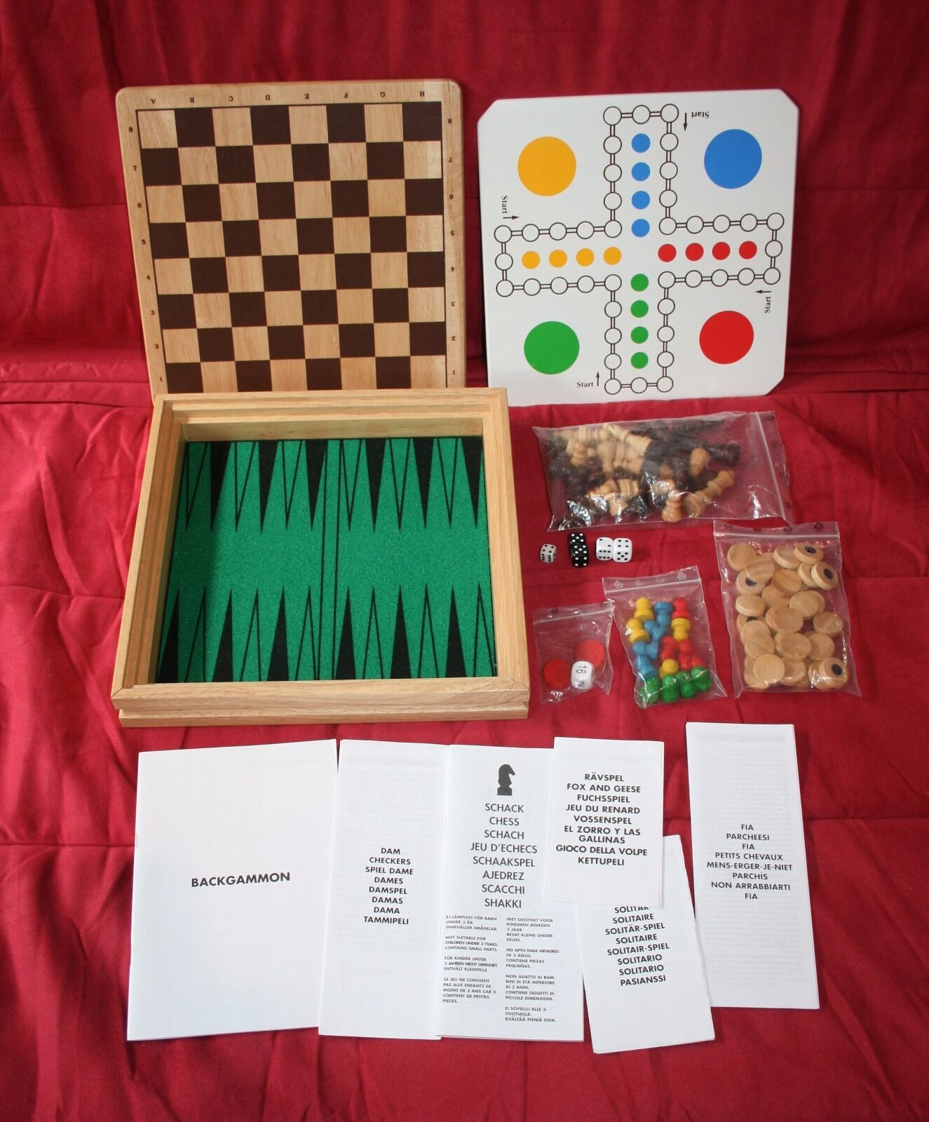 IKEA 6 Spiele Holz-Spielesammlung Schach Mensch ärgere dich nicht nicht nicht Dame... TOP 4e57b5