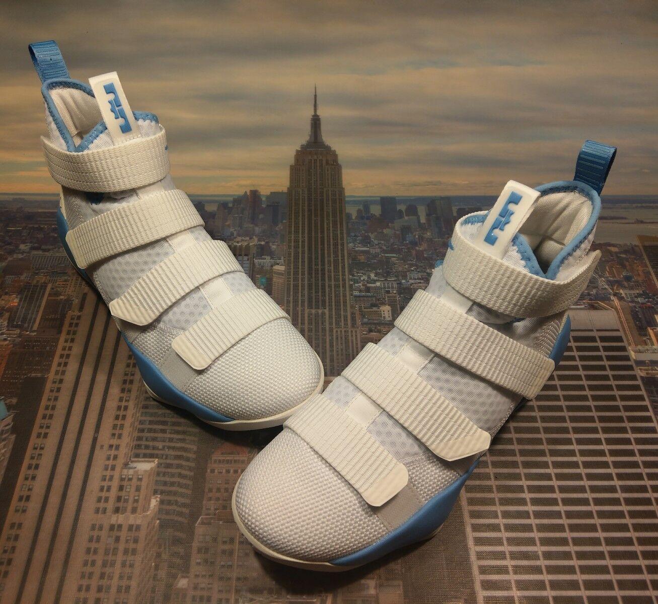 Nike LeBron Soldier XI 11 TB Promo White Coastal bluee Men's Size 8 X 943155 115