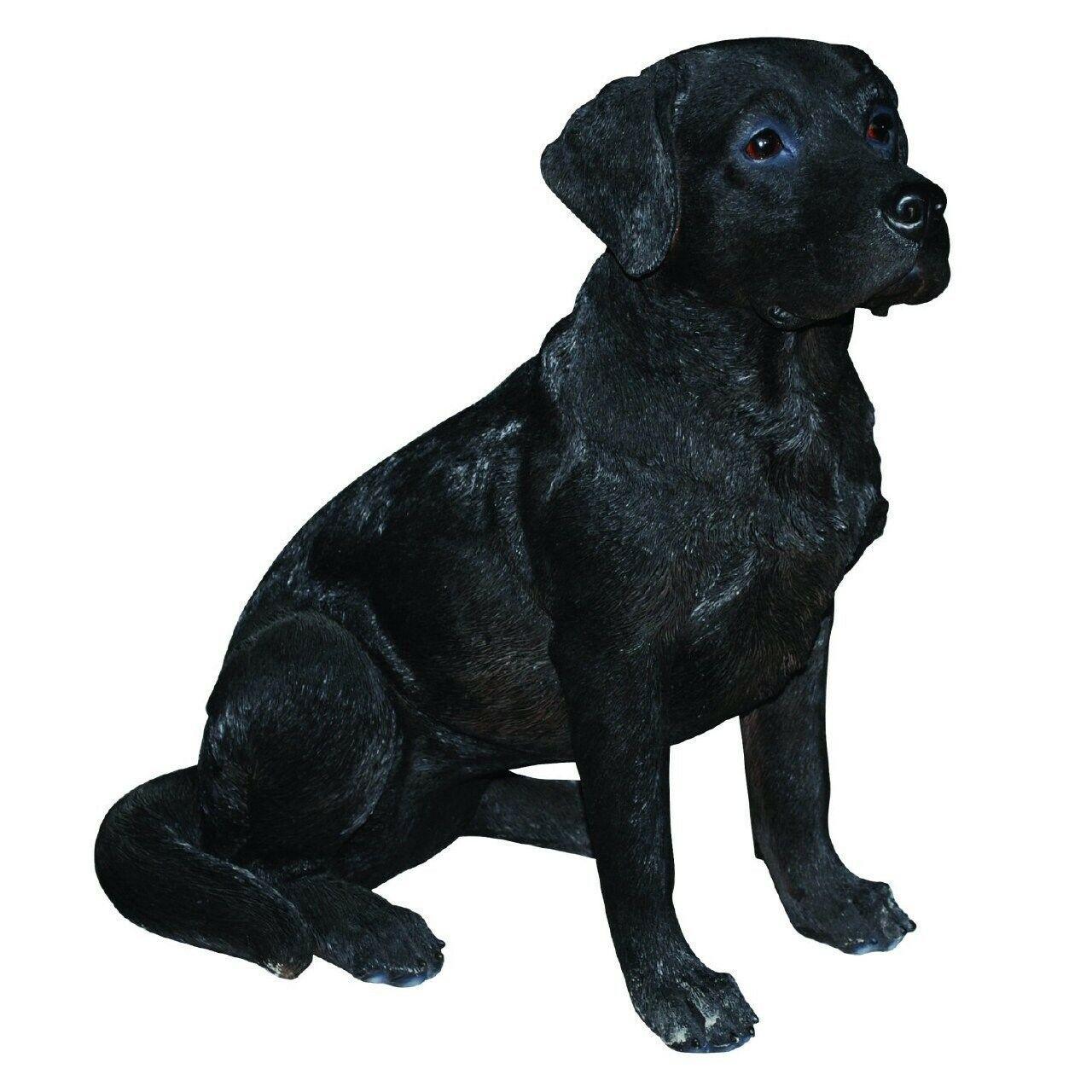 Vivid Arts De La Vida Real Negro Labrador (TALLA B) Interior al Aire Libre Jardín Decoración