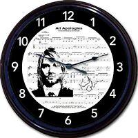 Kurt Cobain Nirvana Grunge All Apologies 80s Eighties Wall Clock Sheet Music 10