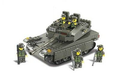 Military Large M1 Main Battle Tank c/w Army Figures Compatible Building Bricks