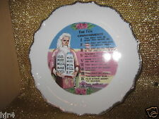 The Ten Commandments Moses Israel Jerusalem Holy Land Collector's Plate