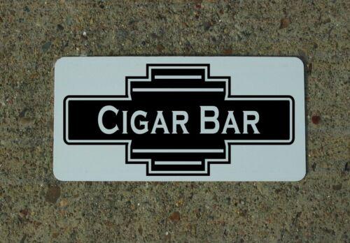 CIGAR BAR Black Metal Sign 40/'s 50s Retro Vintage Style Art Deco Decor Design