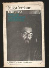 Julio Cortazar Book Argentina Años De Alambradas Culturales 1984