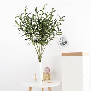 Artificial-Olive-Tree-Branches-Green-Leaf-Plants-Fake-Leaf-Wedding-Home-Decor