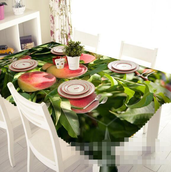 3D Peach Tree 210 Tablecloth Table Cover Cloth Birthday Party Event AJ WALLPAPER