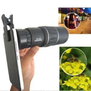 Zoom-Hiking-Monocular-Lens-Camera-HD-Scope-Hunting-16x52-Telescope-Phone-Holder