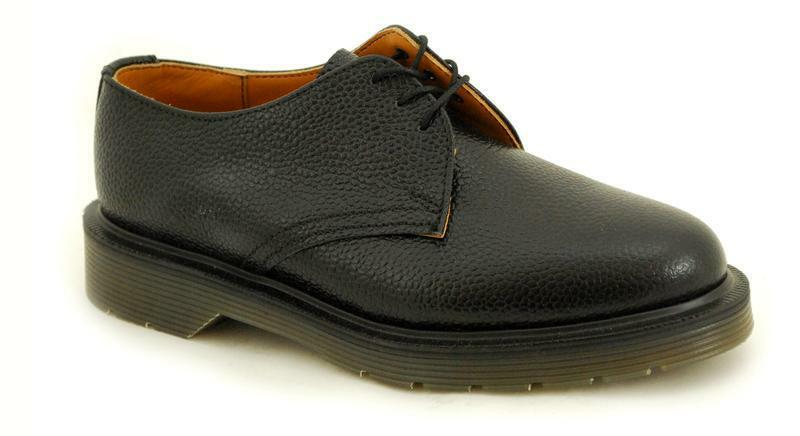 Solovair NPS shoes Made in England 3 Eye Black Grain shoes s019-L 3995 BKGR
