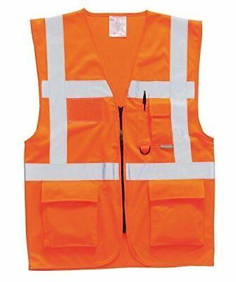 Gilet Da Lavoro Alta Visibilita' Arancione Orange Portwest S476