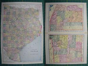 E texas arizona new mexico vintage original 1895 crams world atlas image is loading e texas arizona new mexico vintage original 1895 gumiabroncs Image collections