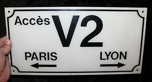 Alteres-Zugang-Schild-V2-Paris-Lion-Frankreich-aus-harten-Kunststoff