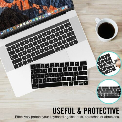 Thin Keyboard Protector Cover Soft TPU Skin for MacBook Pro 2018 New A1990 A1989