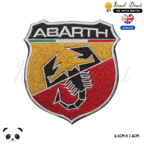 ABARTH Car Brand Logo Embroidered Iron On Sew On Patch Badge