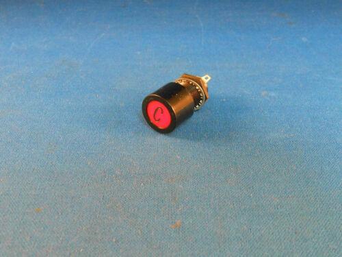 "9072615 LIGHT IND RED W// BLK LEGEND /""C/"" 2 SOLDER LUGS NEW OLD STOCK"