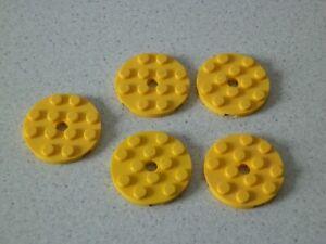Lego-60474-5x-Platte-rund-4x4-gelb-75214-7939