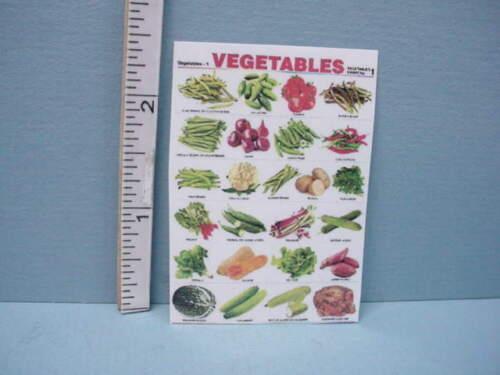 Miniature Vegetables Sign Laminated Paper Sign Teri/'s Workshop