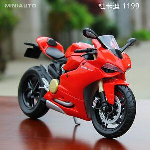 Motorcycle Motor Bike model Toy red 1:12 Maisto Ducati 1199 Panigale
