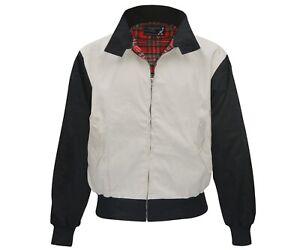 Heavy Harrington Jacket Tartan Lined Two-Tone 2-Tone Punk Skinhead Jacke Army