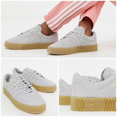 Platform Shoes Ice Gray Suede