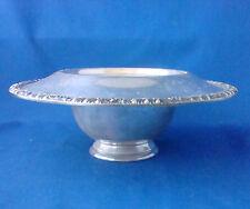 "Henley tudor silverplate Oneida Community Mayonnaise pedestal serving bowl 8"""