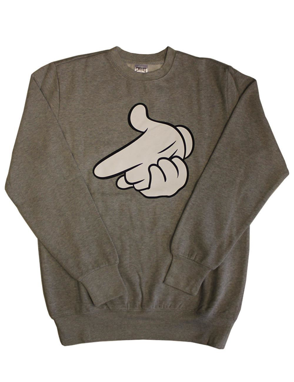Crooks & Castles Air Gun Sweatshirt Athletic Grau Weiß