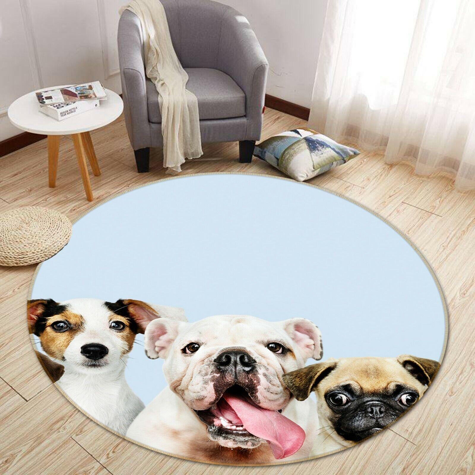 3D Carino cani B007 Animale tappetino antiscivolo tappeto rossoondo elegante Tappeto Wendy